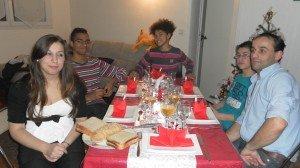 De gauche à droite: moi, Aymeric, Mathéo, mon frère, mon père